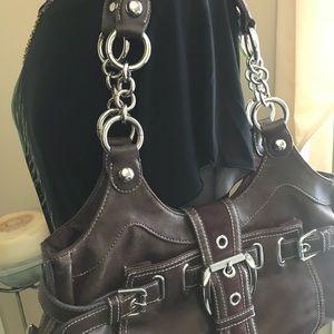 Kathy Van Zeeland brown purse / shoulder bag